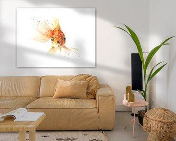 Goldfisch in Aquarell von Atelier DT