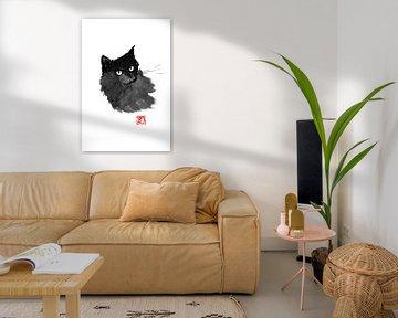 coole schwarze Katze