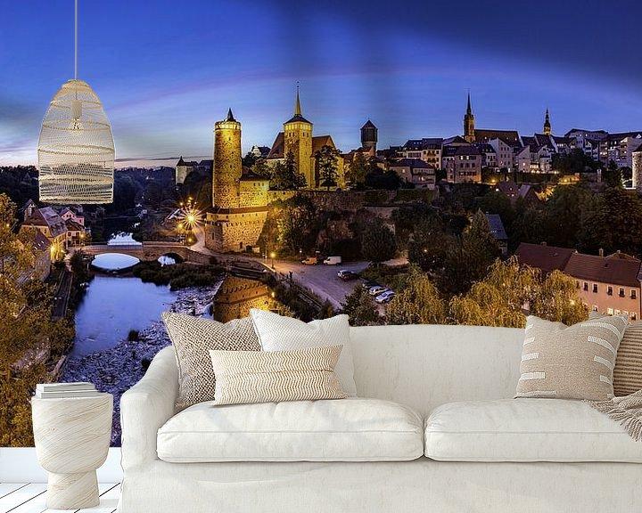 Impression: Panorama de la vieille ville de Bautzen à l'heure bleue sur Frank Herrmann