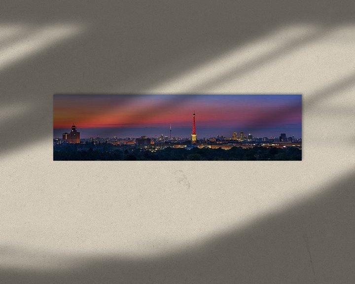 Beispiel: Berlin Skyline Panorama im Sonnenaufgang von Frank Herrmann