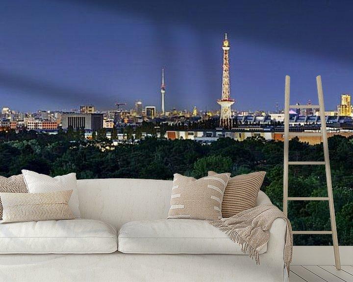 Beispiel fototapete: Berlin Skyline zur blauen Stunde von Frank Herrmann