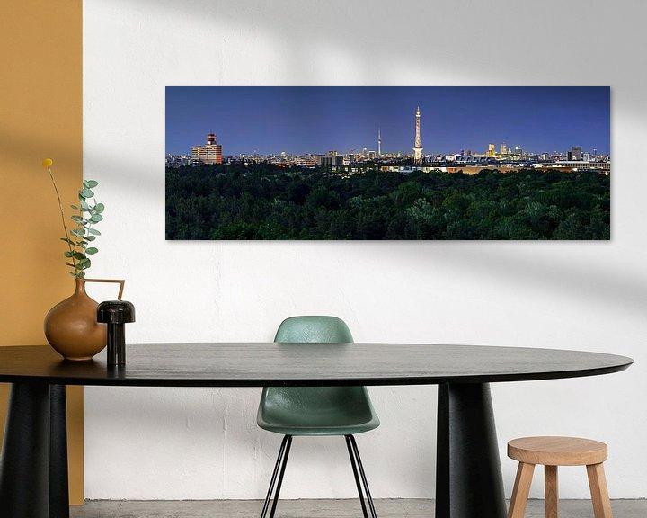 Beispiel: Berlin Skyline zur blauen Stunde von Frank Herrmann