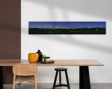 Berlijn Skyline Panorama op blauw uur van Frank Herrmann