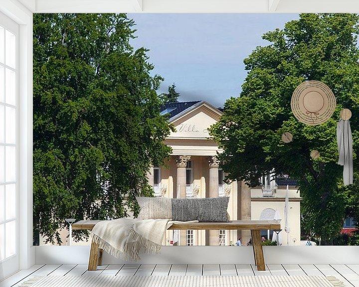 Sfeerimpressie behang: Villa Mare, Strandpromenade, Lübeck-Travemünde, Sleeswijk-Holstein, Duitsland, Europa van Torsten Krüger