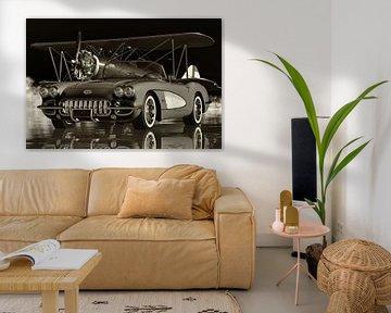 Chevrolet Corvette C1 Der legendäre Sportwagen in Schwarzweiß von Jan Keteleer