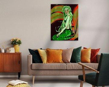 Zeemeermin in groen van Suzanne Groen