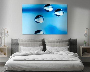 Blue Drops van Markus Wegner