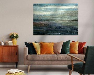 Dynamisch lijnen landschap van Anita Snik-Broeken