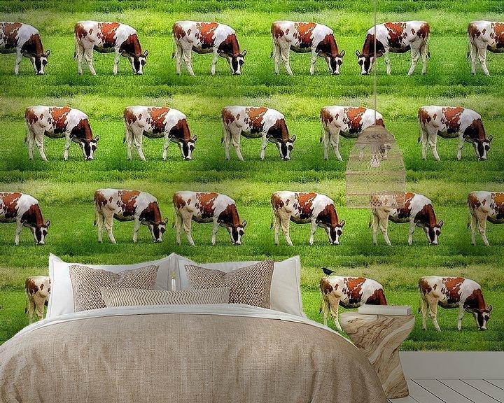 Sfeerimpressie behang: Koeien, koeien, koeien van Ruben van Gogh