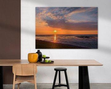 Zonsondergang Eemshaven Groningen van Marga Vroom