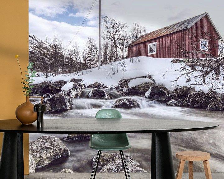 Beispiel fototapete: Fischerhütte von Michael Wolf