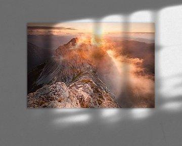 Zonsondergang op de top van de Guffert van Jiri Viehmann
