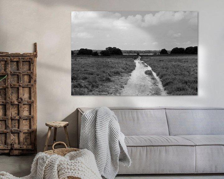 Beispiel: Über der Ermeloschen Heide in schwarz-weiß von Gerard de Zwaan