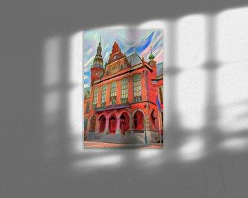 Abstract Schilderij Academiegebouw Groningen