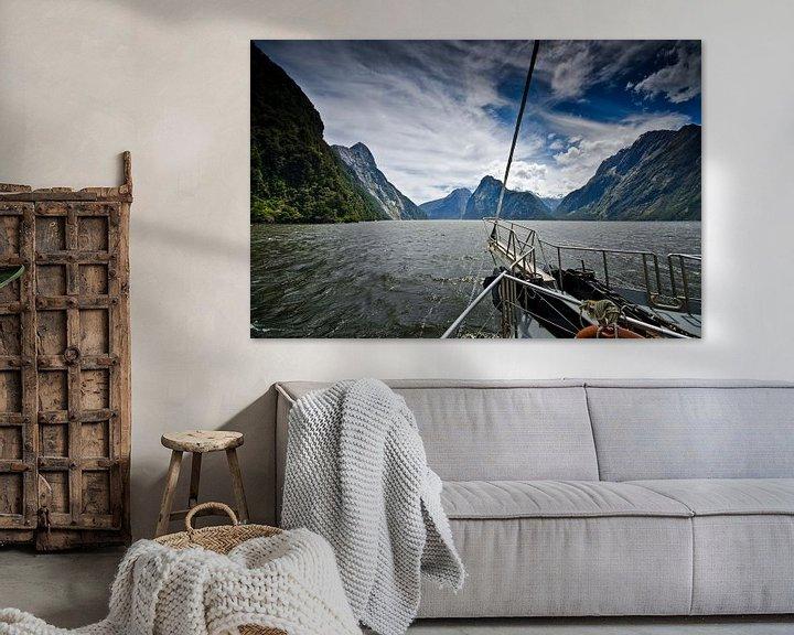 Sfeerimpressie: Sailing in Milford Sound - New Zealand van Ricardo Bouman