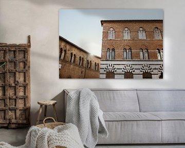 Siena, Toscane Italie - gebouw van Anne Verhees