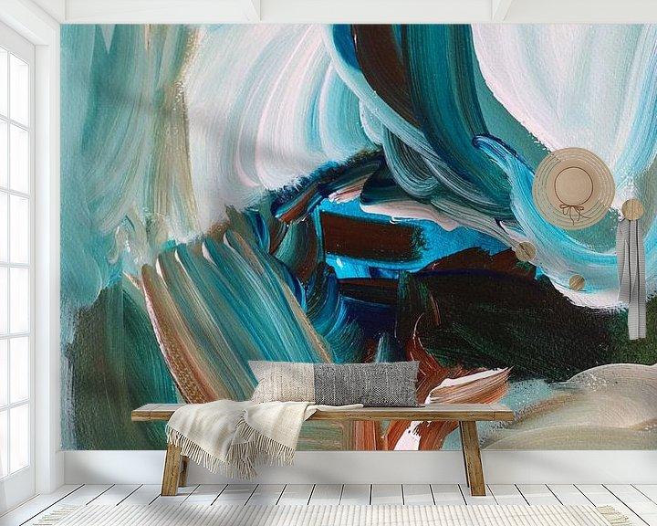 Sfeerimpressie behang: ~ onderstroom ~ van Klaske de Wal