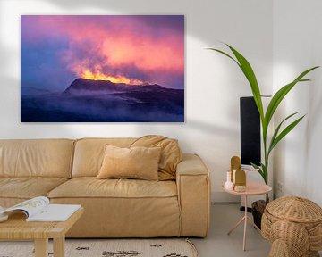Fagradalsfjall Vulkaan van Ton van den Boogaard