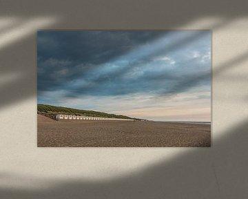 Chalets de plage à Texel sur MdeJong Fotografie