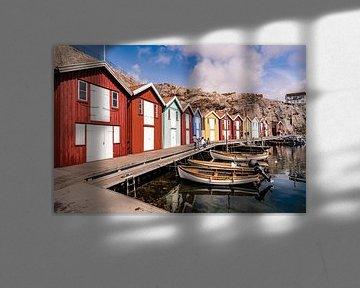 Smögen - kleurrijk vissersdorp in Zweden van Lieke Dekkers