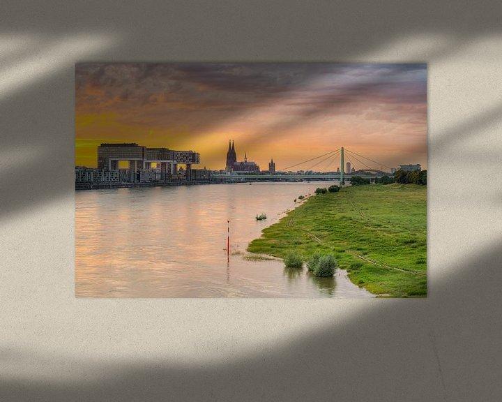 Beispiel: Die Skyline von Köln von Michael Valjak