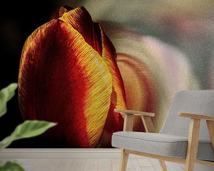 Sfeerimpressie behang: tulp van Dick Jeukens