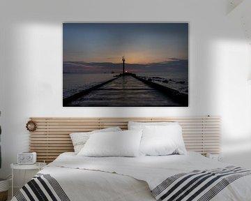 HOEK VAN HOLLAND zon op puntje van de pier van Paul Veen