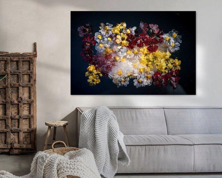 Beispiel: Fotos von Blumen, die im Eis eingefroren sind von Thilo Wagner