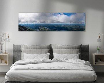 Vue panoramique depuis Gaustatoppen en Norvège sur Matthias Korn