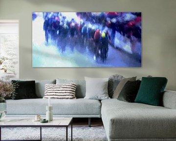 moderne kunst wielrennen van Paul