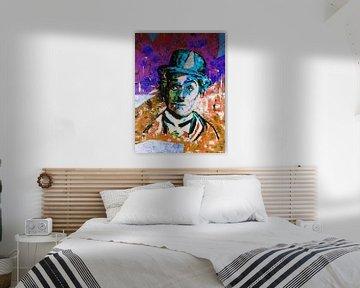 Charlie Chaplin van Kathleen Artist Fine Art