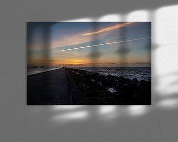 De avond boven zee van Paul Veen
