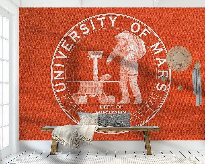 Beispiel fototapete: University of Mars - Department of History von Frans Blok