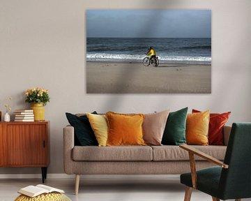 Radfahren am Strand
