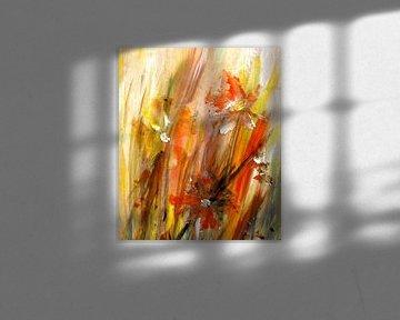 speels - abstracte bloemen van Claudia Gründler