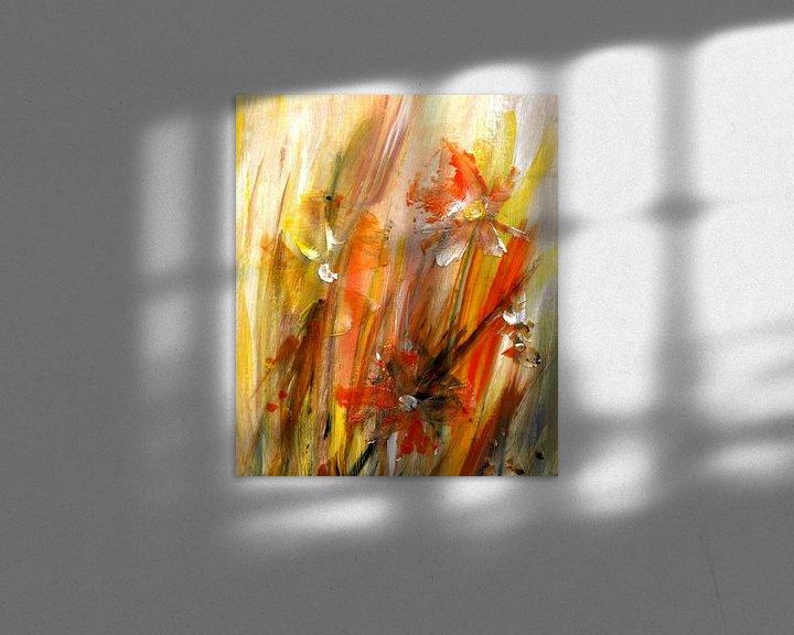 Sfeerimpressie: speels - abstracte bloemen van Claudia Gründler