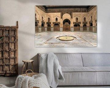 Koranschool Medersa Bou Inania, Fes, Marokko van Peter Schickert