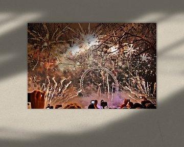 New Years Eve, London von Johnny van der Leelie