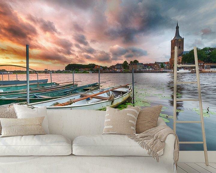 Beispiel fototapete: Feuriger Himmel bei Hasselt von Mark Bolijn