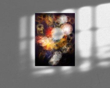 aura van een vaas met bloemen van Jacco Hinke