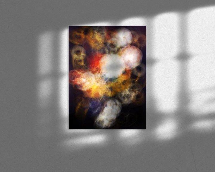 Sfeerimpressie: aura van een vaas met bloemen van Jacco Hinke