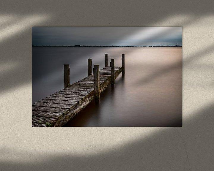 Impression: La jetée dans la lumière du soir sur Mark Bolijn