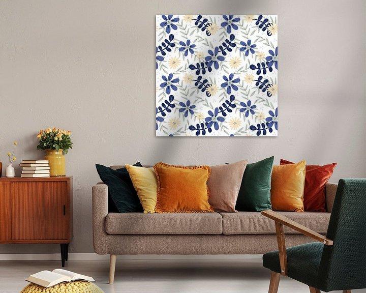 Beispiel: Tropische Blume Dschungel - moderne Illustration von Studio Hinte