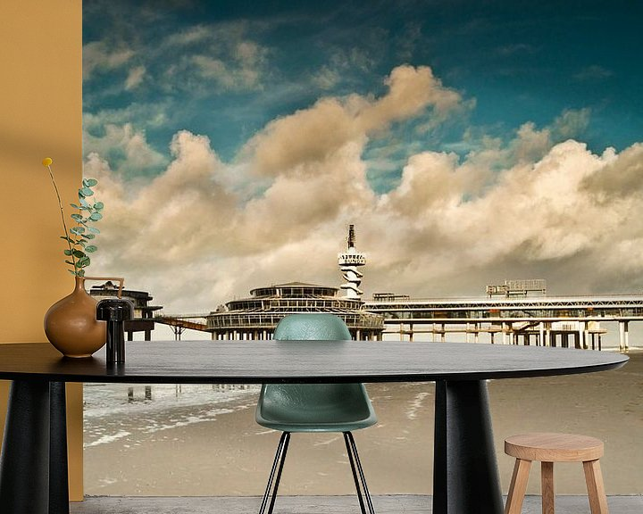 Sfeerimpressie behang: Pier van Scheveningen van Ricardo Bouman
