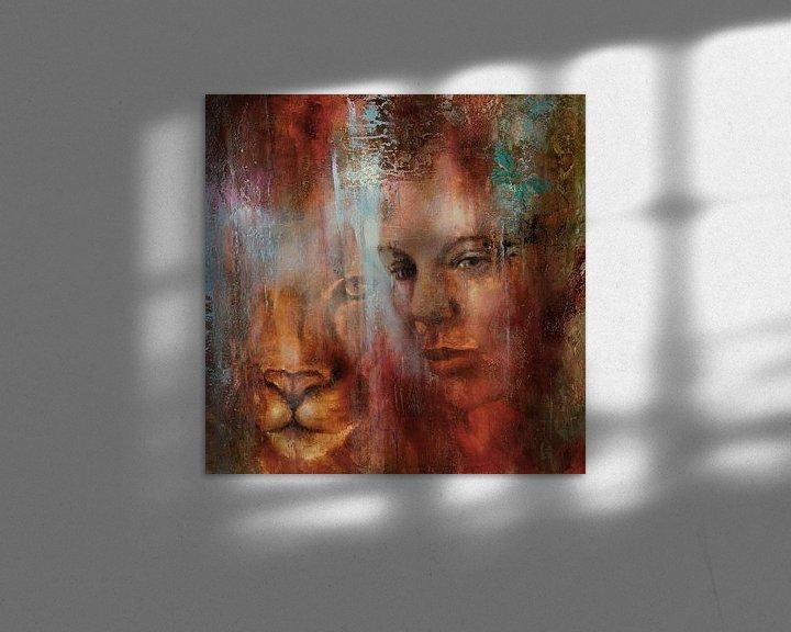 Impression: Ensemble : le regard d'une femme et d'un lion sur Annette Schmucker