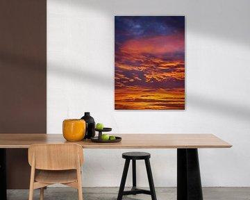 Sky Orange Blue van Anouk Beunen
