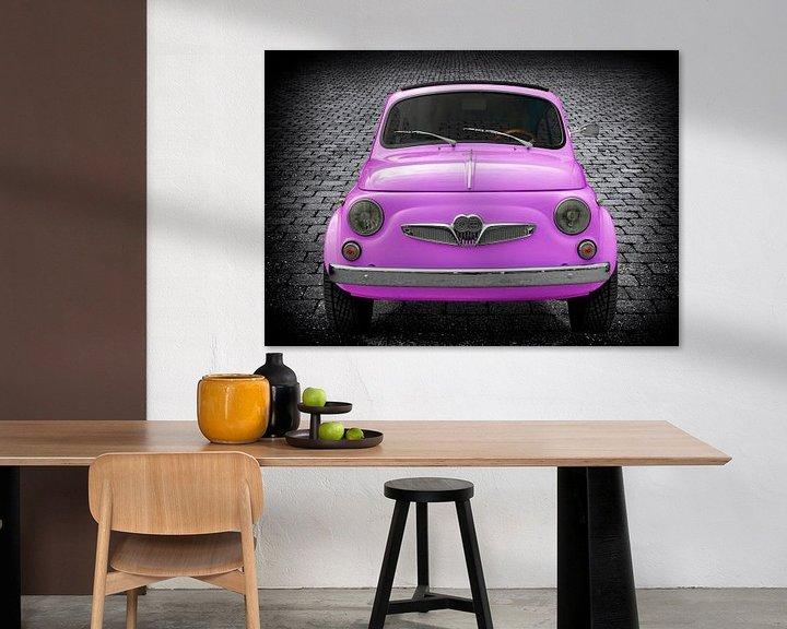Sfeerimpressie: Steyr-Puch 500 in roze van aRi F. Huber