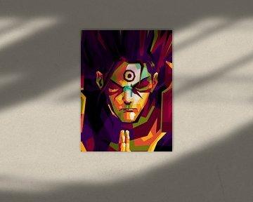 Anime Naruto Hashirama en popart sur miru arts