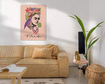 Frida und Papagei von Rudy & Gisela Schlechter
