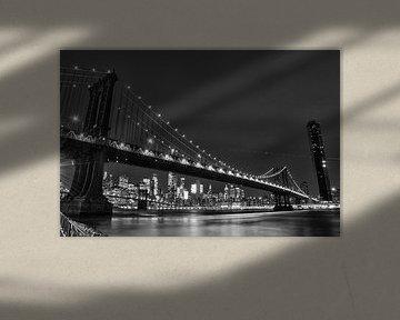 Manhattan Bridge NYC van Bas Alstadt Fotografie